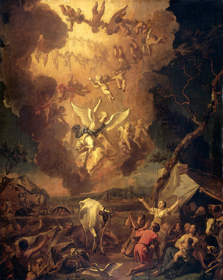 Annunciation_to_the_Shepherds_1663_Abraham_Hondius