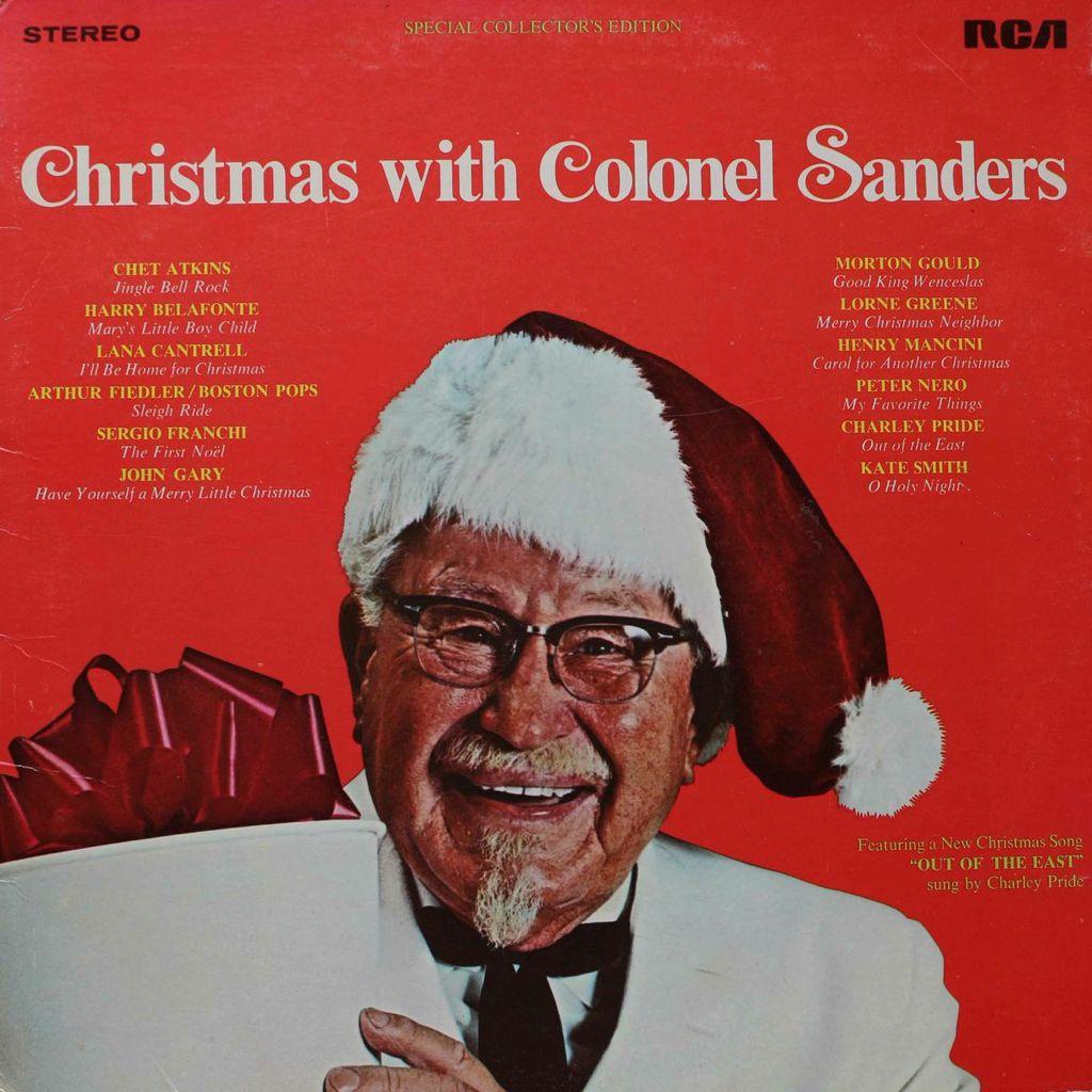 ChristmasColonelSaundersLPCoverBaja