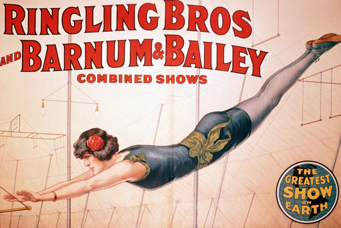 Poster with Trapeze Artist
