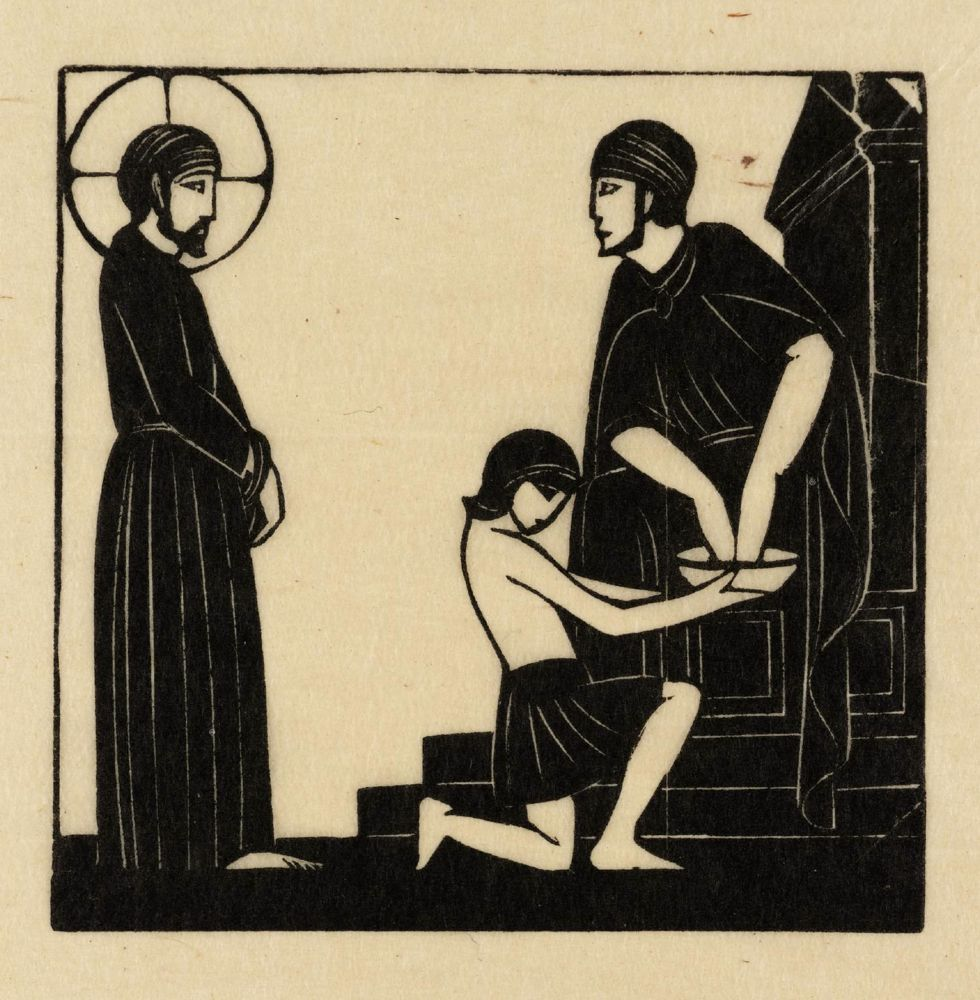 Jesus is Condemned to Death 1917 by Eric Gill 1882-1940