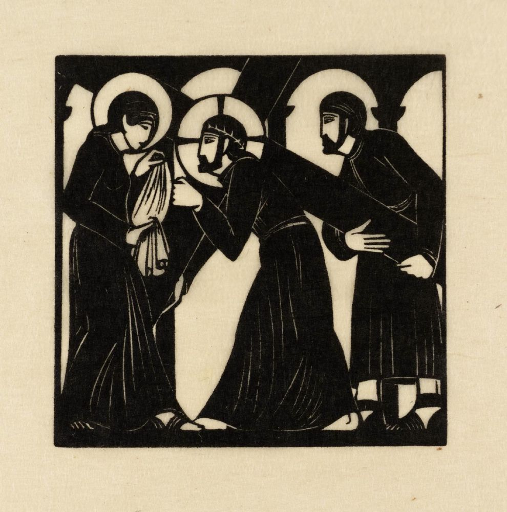 Jesus Meets Veronica 1917 by Eric Gill 1882-1940