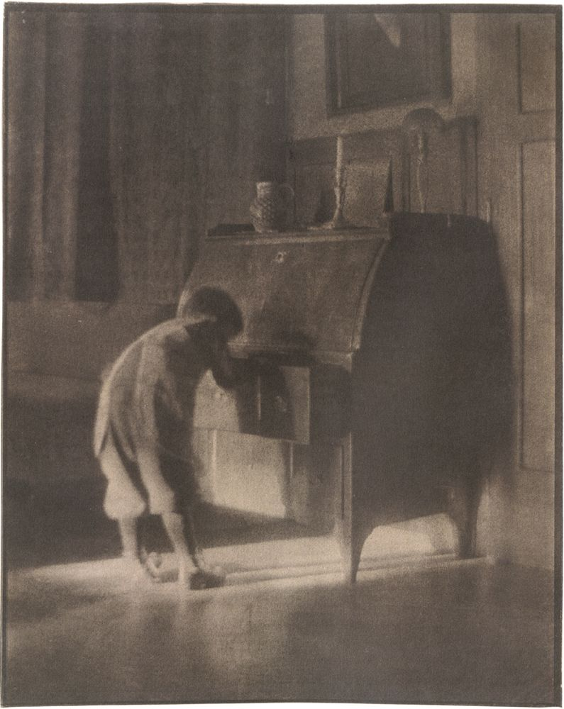 Heinrich Kühn: Hans with Bureau, 1905; from Heinrich Kühn: The Perfect Photograph, the catalog of a recent exhibition organized by the Albertina, Vienna. Now out of print, it was edited by Monika Faber and Astrid Mahler and published by Hat