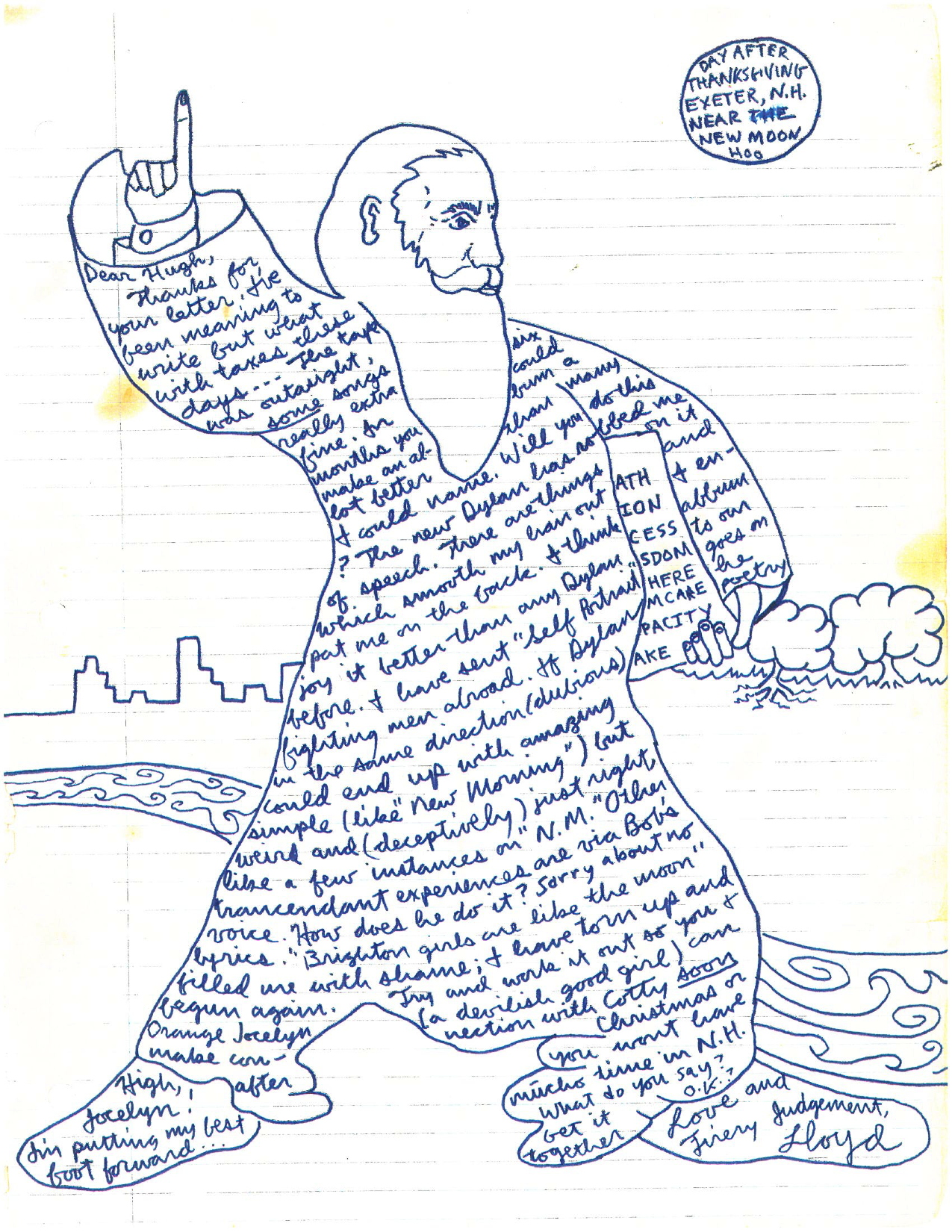 LWF letter to Hugh 1970