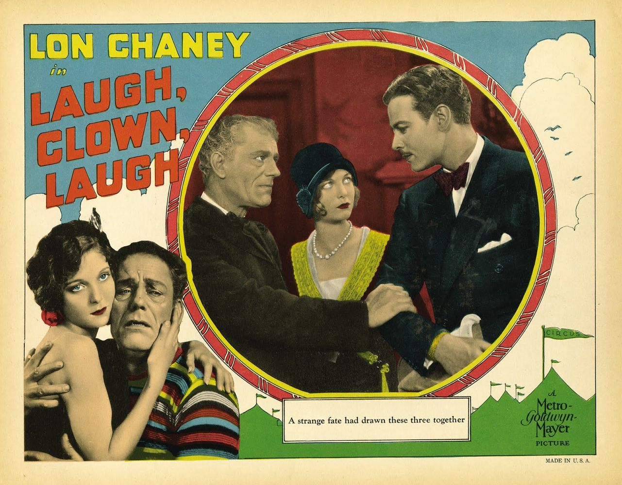 Laugh, Clown, Laugh Lobby Card Baja
