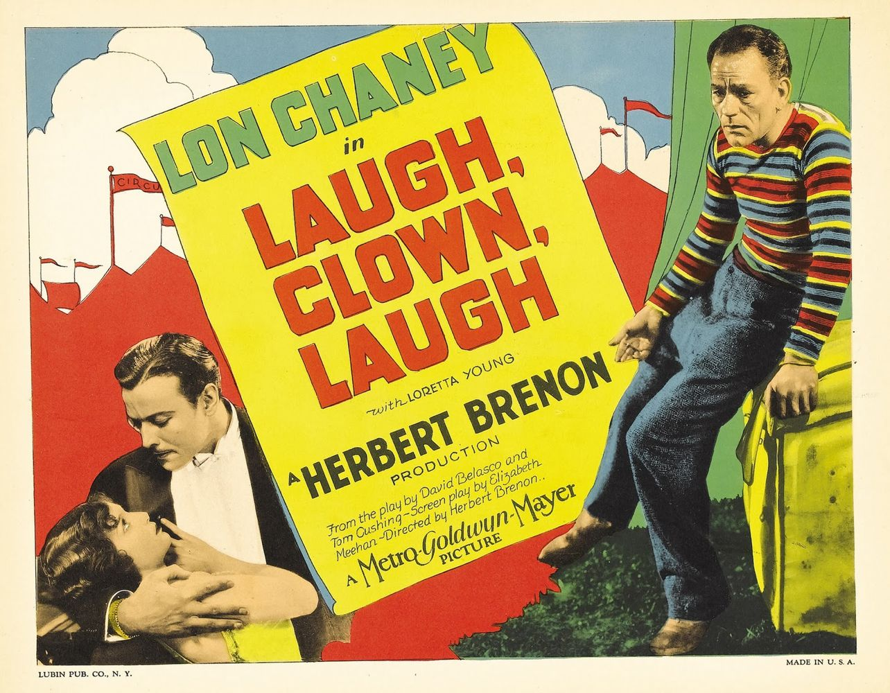 Laugh, Clown, Laugh Poster Baja