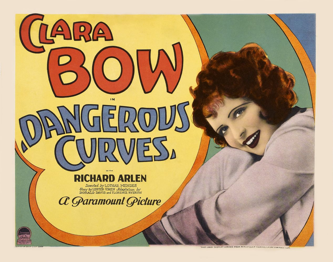 Lobby Card Dangerous Curves Baja