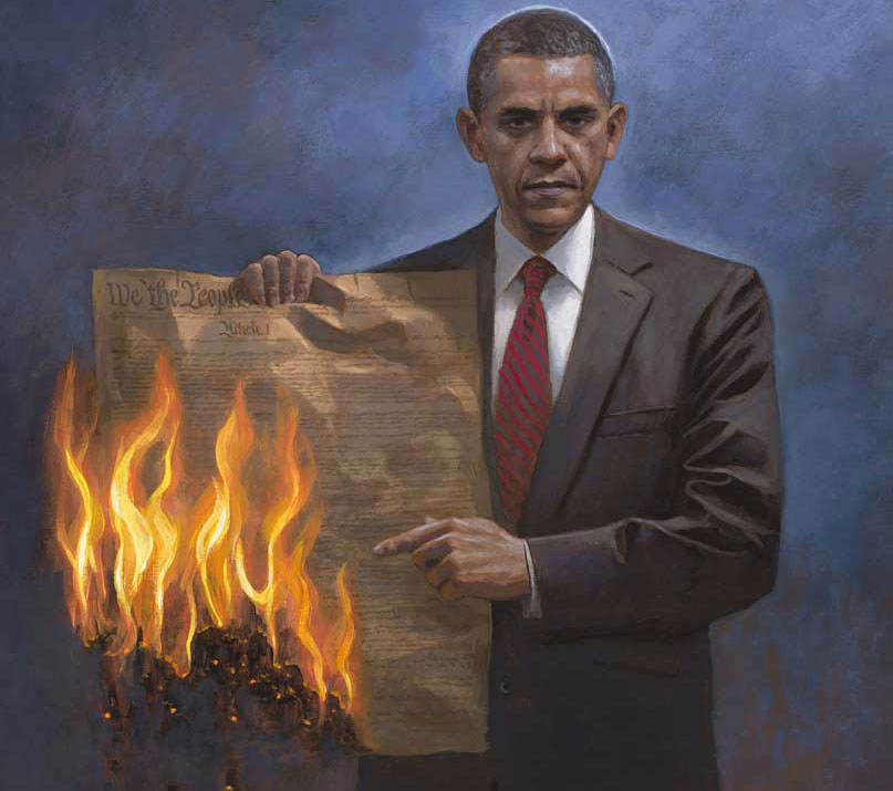 ObamBurnsConstitution