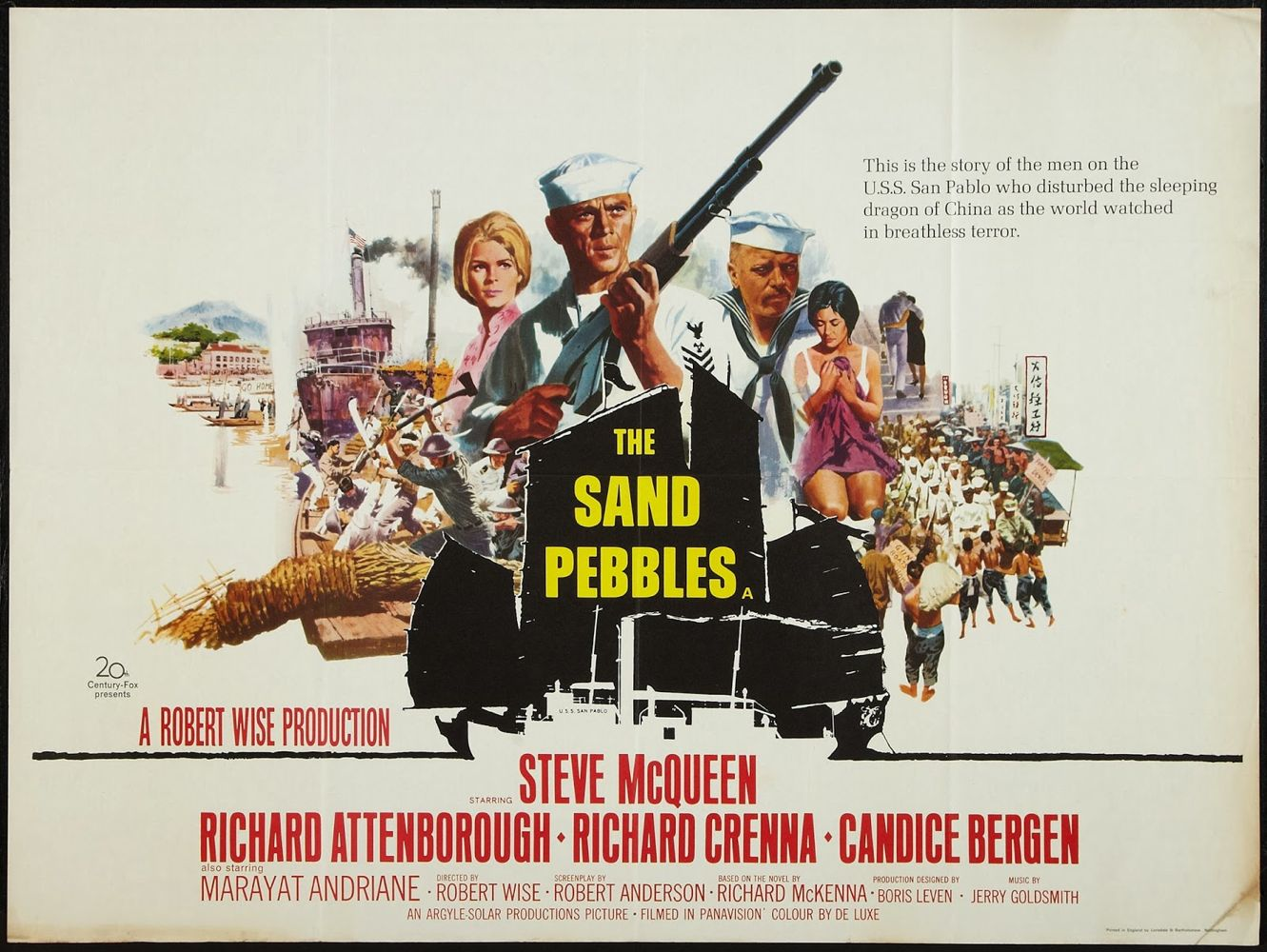The Sand Pebbles (20th Century Fox, 1966) British Quad Baja