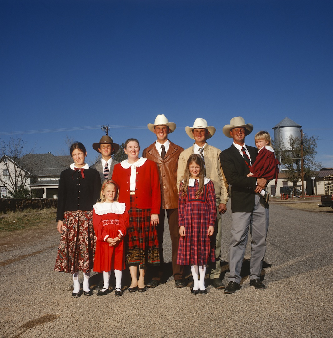 The Largent family lives on a 4,000 acre ranch, Fort Davis, 1998.