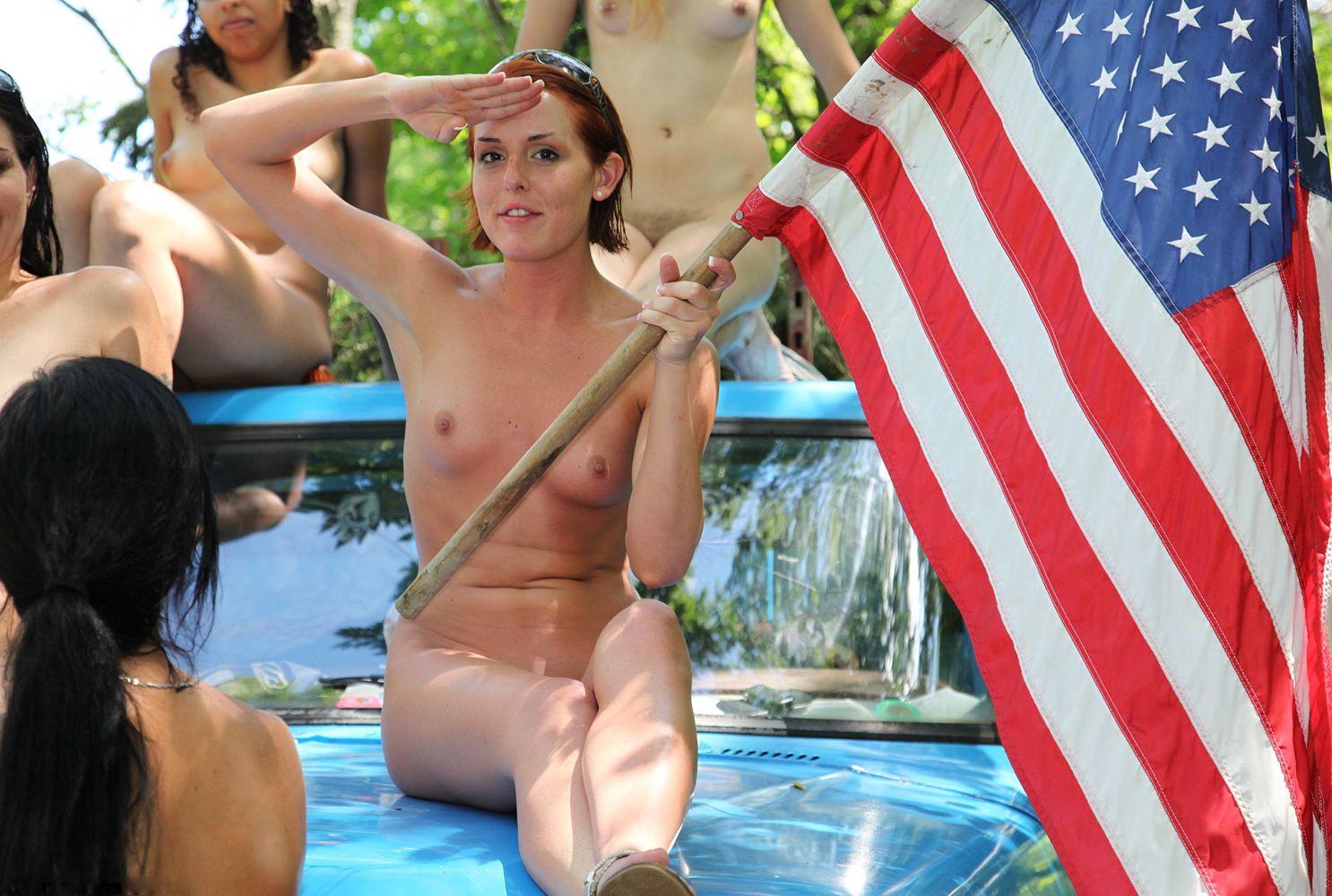 WomenAmericanFlagBaja